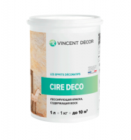 Краска лессирующая Vincent Decor Cire deco base Metallisee Silver 0,8л.